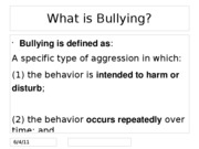 Lecture 15 -Bullying Presentation