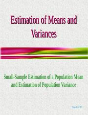 Estimation of Means and Variances.ppt