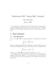Definitions of integrals