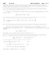 Midterm Exam Solution on Calculus II