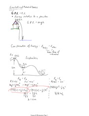 PHYS 12 Gravitational Potential Energy Notes