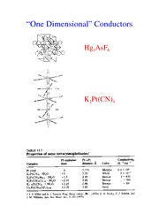One Dimensional Conuctors