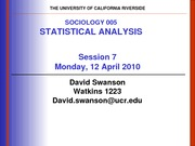 UCR SOC 005 STAT SPR 2010 Session 7 V1