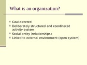 AD 527 Introduction to organizations