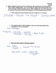 BREWER STOICHIOMETRY