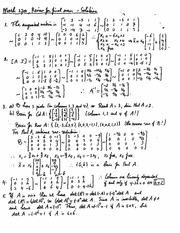 Final Exam Review Solution Spring 2014 on Linear Algebra