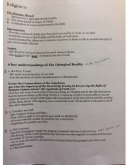 Philosophy and Religion 12 Overview Notes