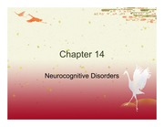 Chapter 14 - Neurocognitive Disorders