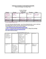 -Creative Writing I Lesson Plans 2012-2013