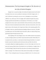 essays on narrative of the life of frederick douglass