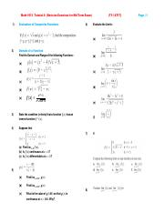 Math 1013  Tutorial 8  (Revision Exercises for Mid Term Exam)