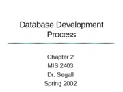 MIS 2403-Chapter 2-Instructor's Notes-Spring 2002