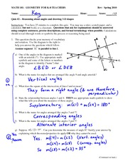 Quiz 2 Solution on Geometry for K-8 Teachers