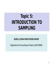 5) Introduction to sampling.ppt