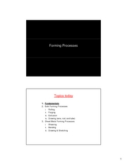 07. Forming Processes