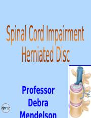Spinal Cord Impairment II, Herniated Disc - prof m.ppt