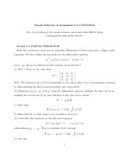 Sample Solutions of Assignment 6