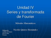 Unidad 4 - series y transformada de Fourier