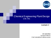 Lecture-1 Introduction To Plant Design