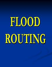 71 (8) FLOOD ROUTING
