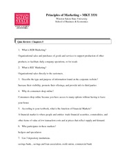 Marketing Study Guide Chapter 5