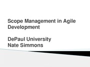 Nate on Scope Management in Agile Development