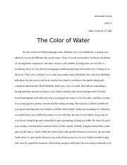 The Color of Water Book Report.docx