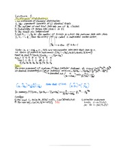 6th Lecture Note on Multinomial Distributions