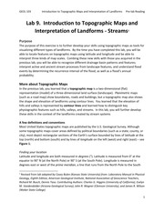 Lab 9 - Topo Maps and Stream Landforms