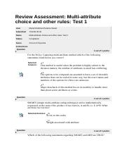 Multi-attribute choice and other rules - Test 1
