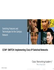 CCNP Switch - Switching Features & Technologies - Ch8