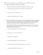 Worksheet ~More Fun Conversion Problems 2012-2013