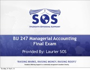 BU247 Managerial Accounting Final Exam - SOS