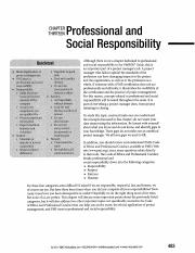 Professional and Social Responsibility