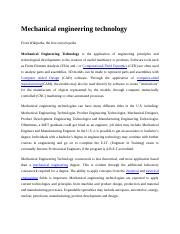 Mechanical engineering technology.docx