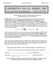 CHEM102-2007SPRING-EXAM2-ANSWERS
