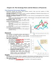 Chapter 25 The Exchange Rate and the Balance of Payments.docx