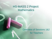 2007 HS MASS Project Mathematics