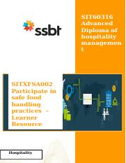 SITXFSA002 Learner Resource WP.docx