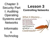 Chap03 Security I Auditing OS & Networks - 3 Controlling Networks - MWF
