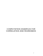 correlation and regression examples