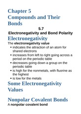 Incredible 5 7 Electronegativity And Bond Polarity Chapter 5 Download Free Architecture Designs Rallybritishbridgeorg