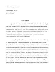 exile el paso texas benjamin saenz essay