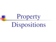 Property Dispositions s11