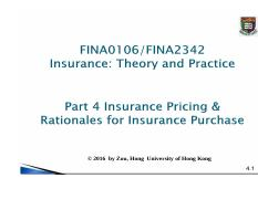 04 Lecture Notes insurance pricing