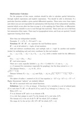 multivariable calculus lecture notes