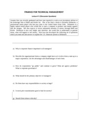 Discussion Questions Lecture 1 FTM