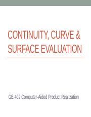 Continuity - Curve & Surface Evaluation(1).pptx