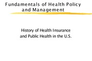 Lec 5_History of Health Insurance and Public Health