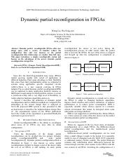 Dynamic partial reconfiguration in FPGAs